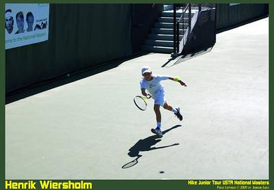 NJT09 Henrik Wiersholm 10  Henrik Wiersholm in the Nike Junior Tour 09 USTA National Masters.