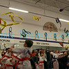 The old belts being tossed into the air after a test at MetroWestMartial Arts and Wellness.