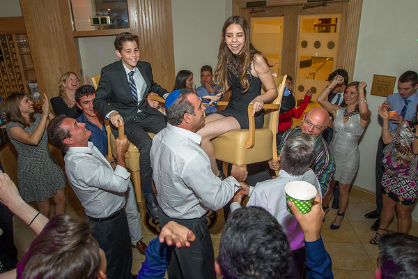Bar Mitzvah from chair top.