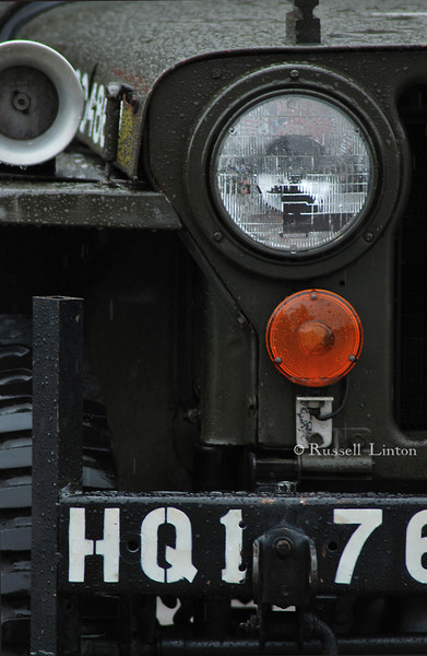 Incurison<br /> Close up shot of a World War 2 era jeep.