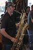 Sax player with Big Daddy Alright, Denton, Texas