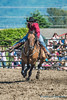 Full out, barrel racing