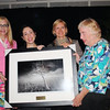 <b>Pauline Stacey, Cara Capp, Jennifer Hecker and Cynthia Plockelman with Clyde Butcher photo</b> <b>Cynthia Receives John V. Kabler Award</b> January 11, 2014 <i>- Maxine Schreiber</i>