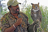 <b>Birds of Prey </b> Clive Pinnock with Owl friend <i>- Adrienne Bergen</i>