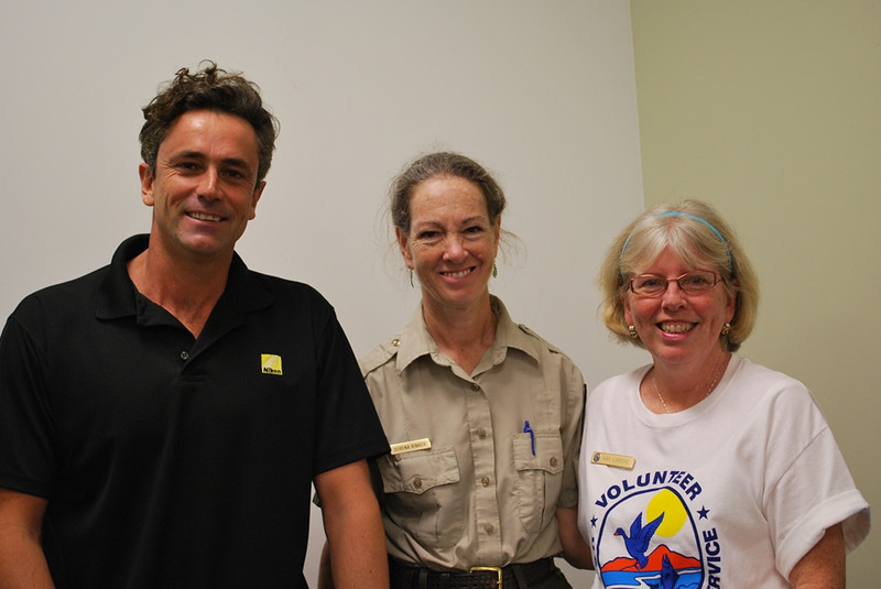 "<b>James Currie of ""Birding Adventures"" with Serena Rinker and Kay Larche</b>  Everglades Day, February 11, 2012"