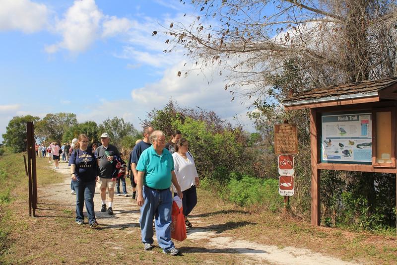 <b>Marsh Trail Walk</b>  Everglades Day, February 11, 2012