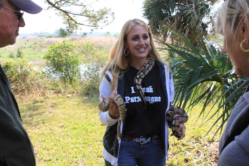 <b>Snake Lady</b>  Everglades Day, February 11, 2012