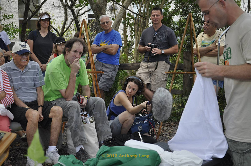 <b>Ed Mercer Shows Off His Snakes</b> Everglades Day, February 9, 2013 <i>- Tony Lang</i>
