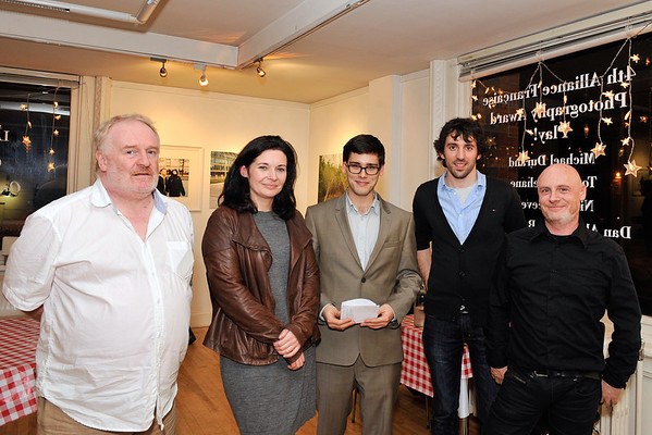 Image features selected photographers Tommie Lehane, Nicki Cheevers, Romain Helard (AF), Dan Alexandru Bujoreanu and Michael Durand.<br /> <br /> Launch of 4th Photo Award competition by the Alliance Française Dublin who is very pleased to exhibit the work of Dan Alexandru Bujoreanu, Nicki Cheevers, Michael Durand and Tommie Lehane, whose photographic submissions have so cleverly grasped the essence of this year's theme, 'Play!'. Exhibition runs in Alliance Francaise Dublin, Kildare Street until 31 January 2014. Photograph: Margaret Brown