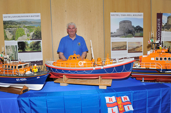 Richard Faulkner of The Irish Model Boat Club with his RNLI Models at the Lifeboat Stand.