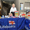 Volunteer Liz at the RNLI Stand in the Concourse. 2011