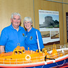 Richard & Nan Faulkner of The Irish Model Boat Club with his RNLI Models at the Lifeboat Stand 2011.