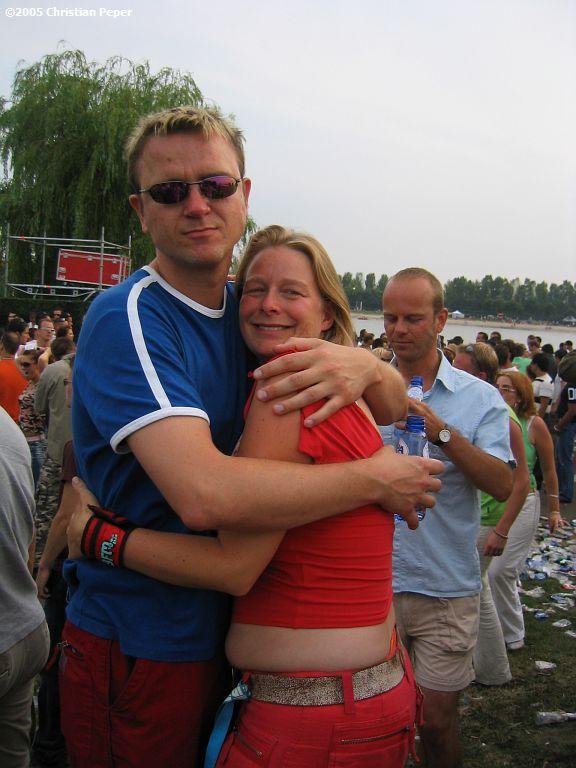 Sjoerd aka Hugbear and Femke. Now you know why we call him that ;)