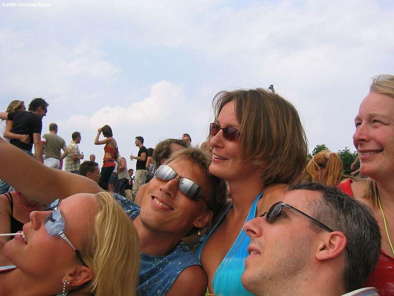 Isabel, Arjen, Petra, Femke and I posing for Arjen