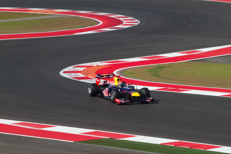 Vettel for Red Bull Racing.... who eventually captured pole position at Qualifying..