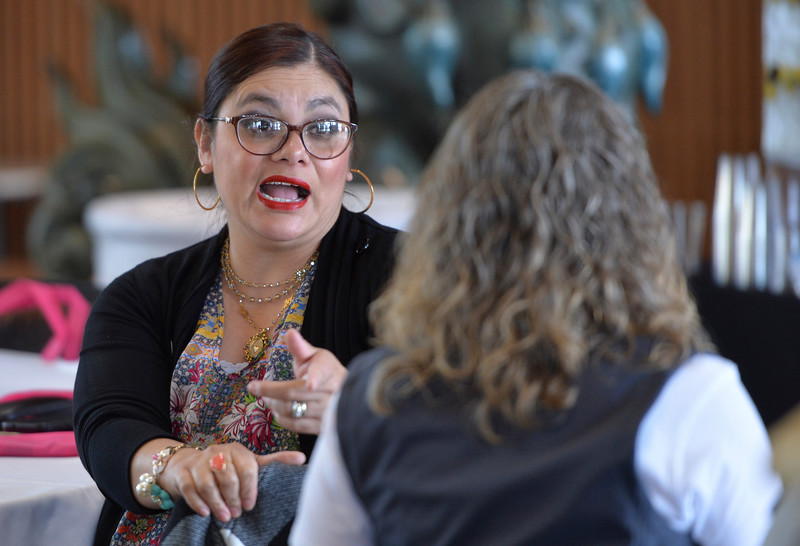 Justin Sheely | The Sheridan Press<br /> Zoila Perry visits during the sixth-annual FAB Women's Conference at Sheridan College Friday, April 6, 2018.