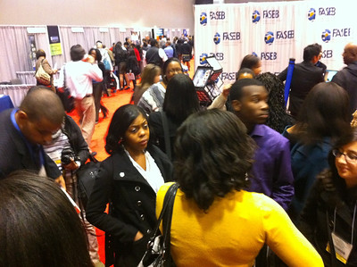 Gwynn Park High School students at FASEB MARC booth during ABRCMS 2011