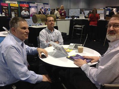 Joe Tringali, Bill Lindstaedt and Philip Hockberger at ABRF 2014