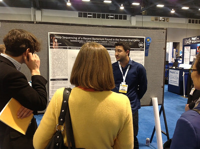 FASEB MARC Travel Award Winner:  Farsheed Ghadiri of San Jose State University at ABRF 2014