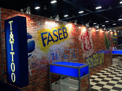 "FASEB sponsored a ""FASEB Ink"" Tattoo Booth featuring the ABRF 2014 logo as a special tattoo for meeting attendees."