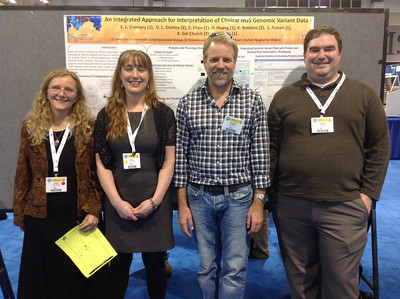 Dr. Katia Sol-Church and members of her research lab at ABRF 2014