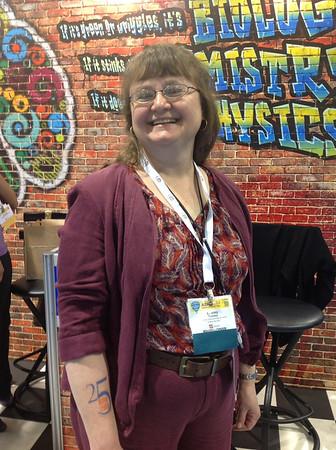 ABRF Member, Dr. Laurey Steinke, at ABRF 2014