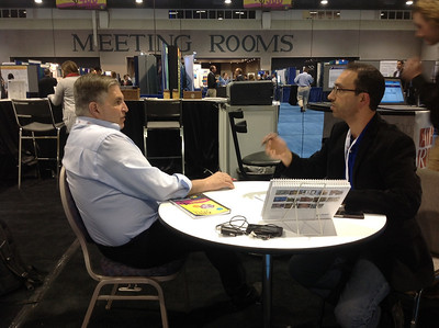 Joe Tringali conducts a 1-on-1 career counseling session at ABRF 2014