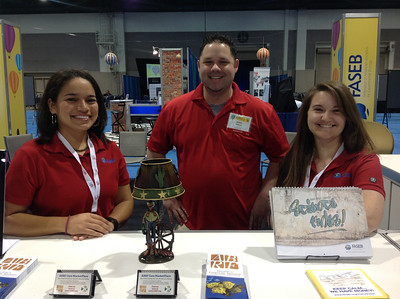 Sarah Deemer, Jaime Atkinson and Kelly Husser ready to assist members and attendees at ABRF 2014.
