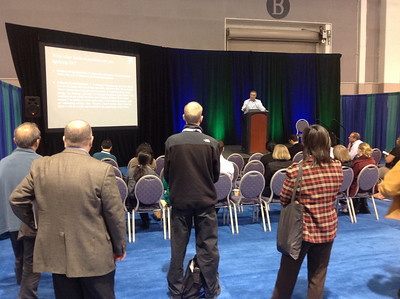 Joe Tringali presents a career development session during the ABRF 2014