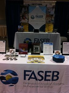 FASEB booth at ISMB 2012 in Long Beach, CA