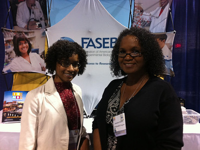 FASEB MARC Travel Award Winner, Deborah Muganda-Rippchen (University of Wisconsin-Madison) and Jacquie Roberts (FASEB MARC Program Director) at the ISMB 2012.