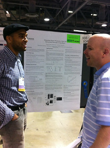 FASEB MARC Travel Award Winner, Robert Ness, presenting his poster at ISMB 2012.