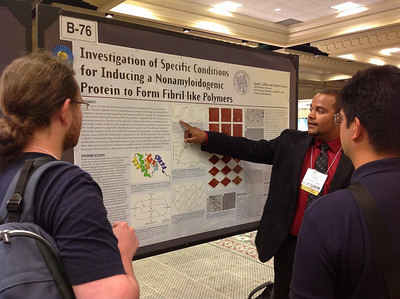 FASEB MARC Travel Award Winner, Jason Collins of Old Dominion University presents his poster during the 26th Annual Symposium of The Protein Society in San Diego.