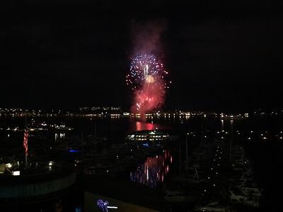 Fireworks display on Coronado Bay