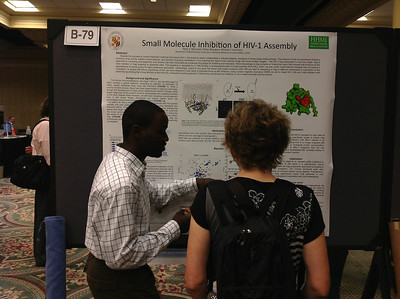 PhD student, Peter Mercredi of the University of Maryland Baltimore County presents his poster at the 26th Annual Symposium of The Protein Society in San Diego.