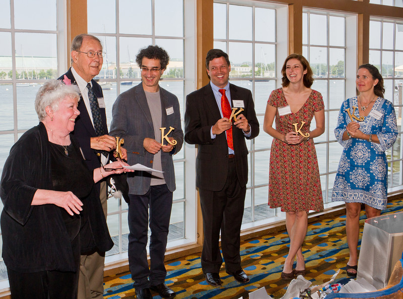 Judi Tanner, outgoing President, FASO; Ralph Reeder, incoming President, FASO; Jose-Luis Novo, Music Director, ASO; John Goldthwait, Chairman of the ASO Board; Kristen Bocchichio, ASO Staff, and Katharene Snavely, Acting Executive Director, ASO