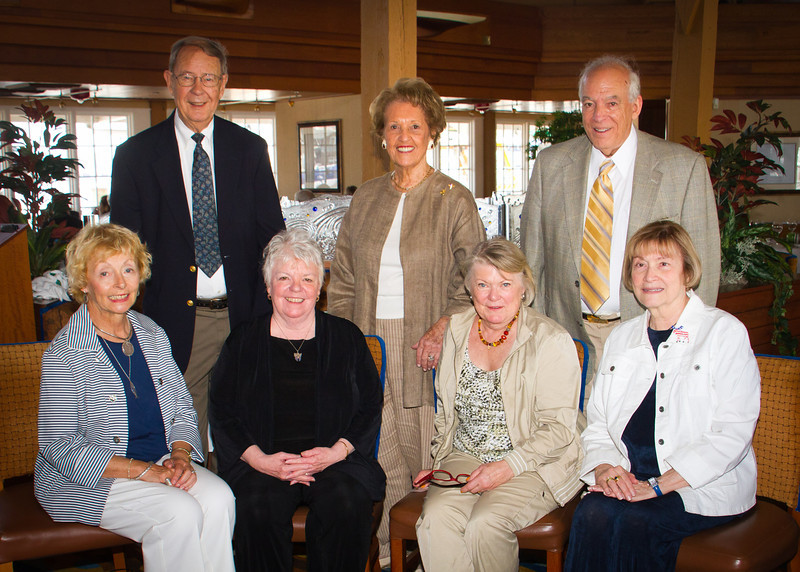 Ralph Reeder, President, FASO (left), shown here with six past Presidents: Anna Greenberg, Jim Cheevers, Judy Sander, Judi Tanner, Joanna Hanes-Lahr, and Dee Green.