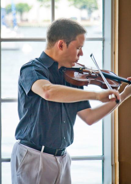 Netanial Draiblate, ASO Concertmeister, plays some fabulous multitonal Bach and Kreisler for us