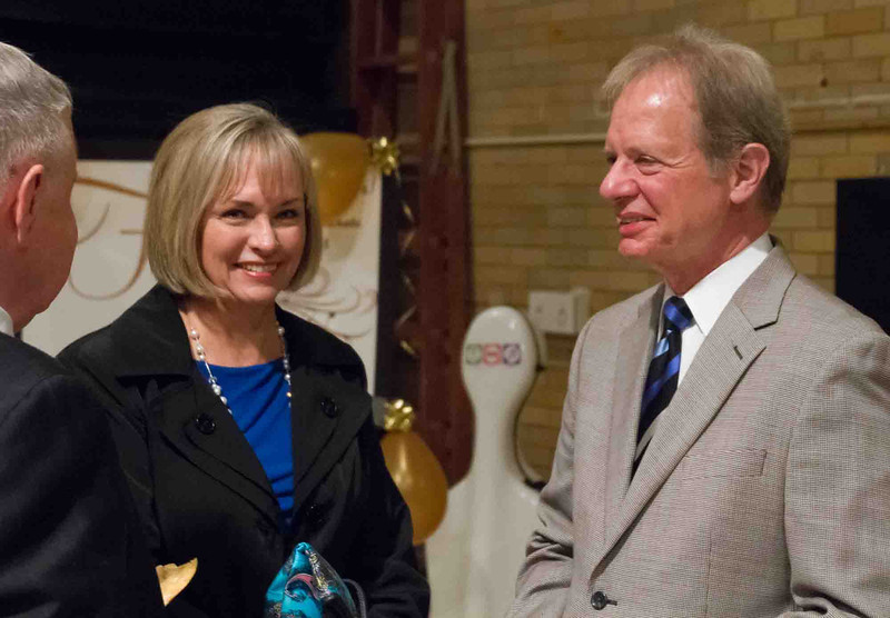 Connie Scott, ASO Board, with Jeth Mill