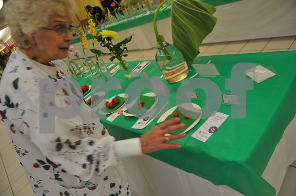 Rose Clark describes her first prize winning tomatoes.