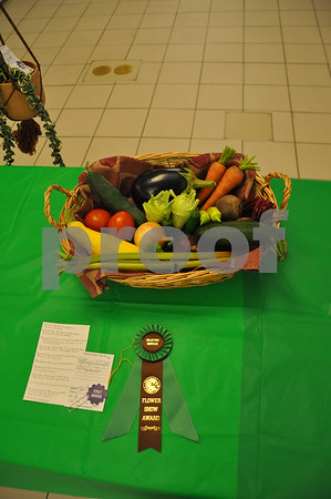 Fruit basket display by Eleanor DenHartog won the Collector's Showcase award.