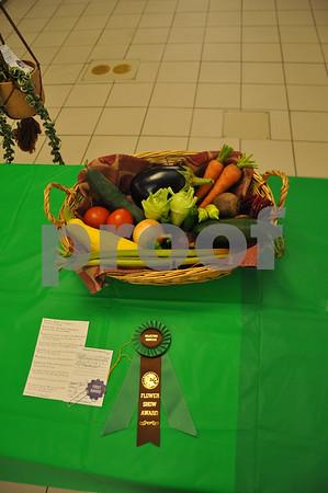 Fruit basket display by Eleanor DenHartog won the Collector's Showcase award.