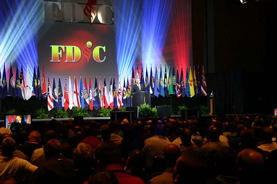 Opening ceromonies of the 2005 FDIC Conference.