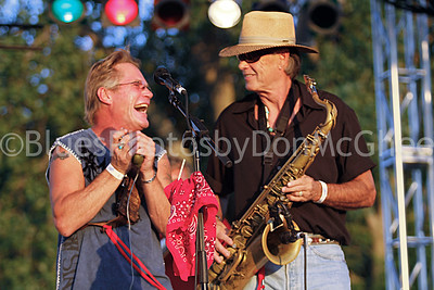 Harp player and sax player - Dave Chastain & Friends