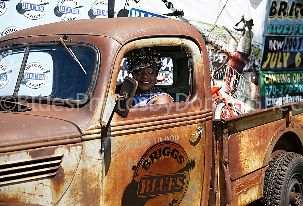 Thornetta Davis in the driver seat