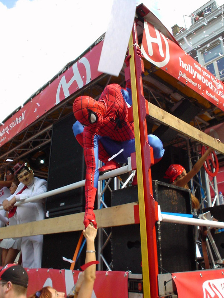 Spiderman was at the Dance Parade too