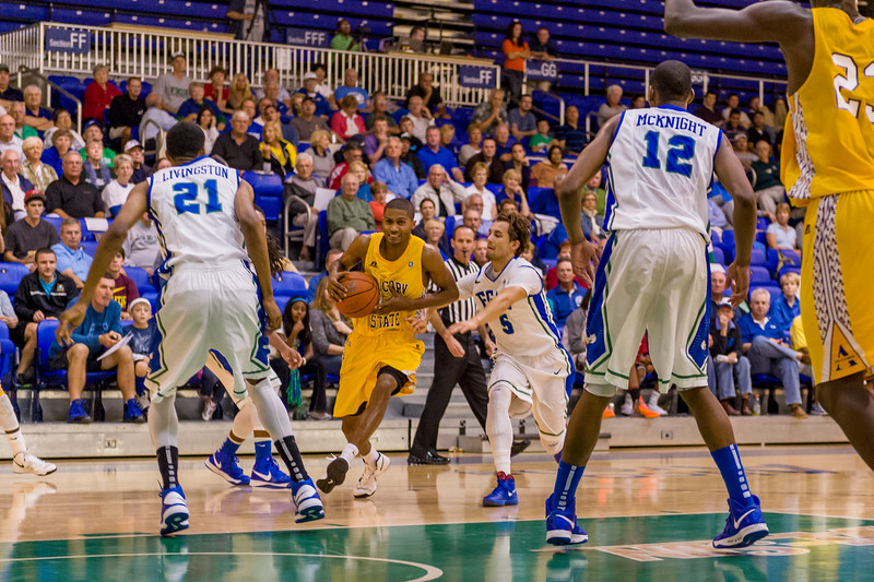A little uncalled travel to get past FGCU defense