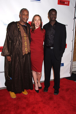 Danny Glover, Carolone Baron, Valentino Achak Deng photo by Rob Rich © 2008 robwayne1@aol.com 516-676-3939