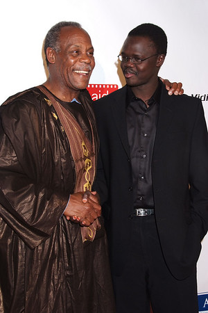 Danny Glover, Valentino Achak Deng photo by Rob Rich © 2008 robwayne1@aol.com 516-676-3939