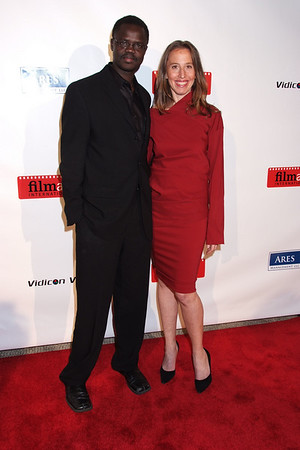 Valentino Achak Deng, Caroline Baron photo by Rob Rich © 2008 robwayne1@aol.com 516-676-3939